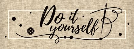 Plantilla de diseño de Do it yourself inspirational Quote Facebook cover