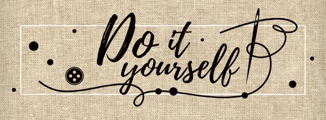 Do it yourself inspirational Quote Facebook coverデザインテンプレート