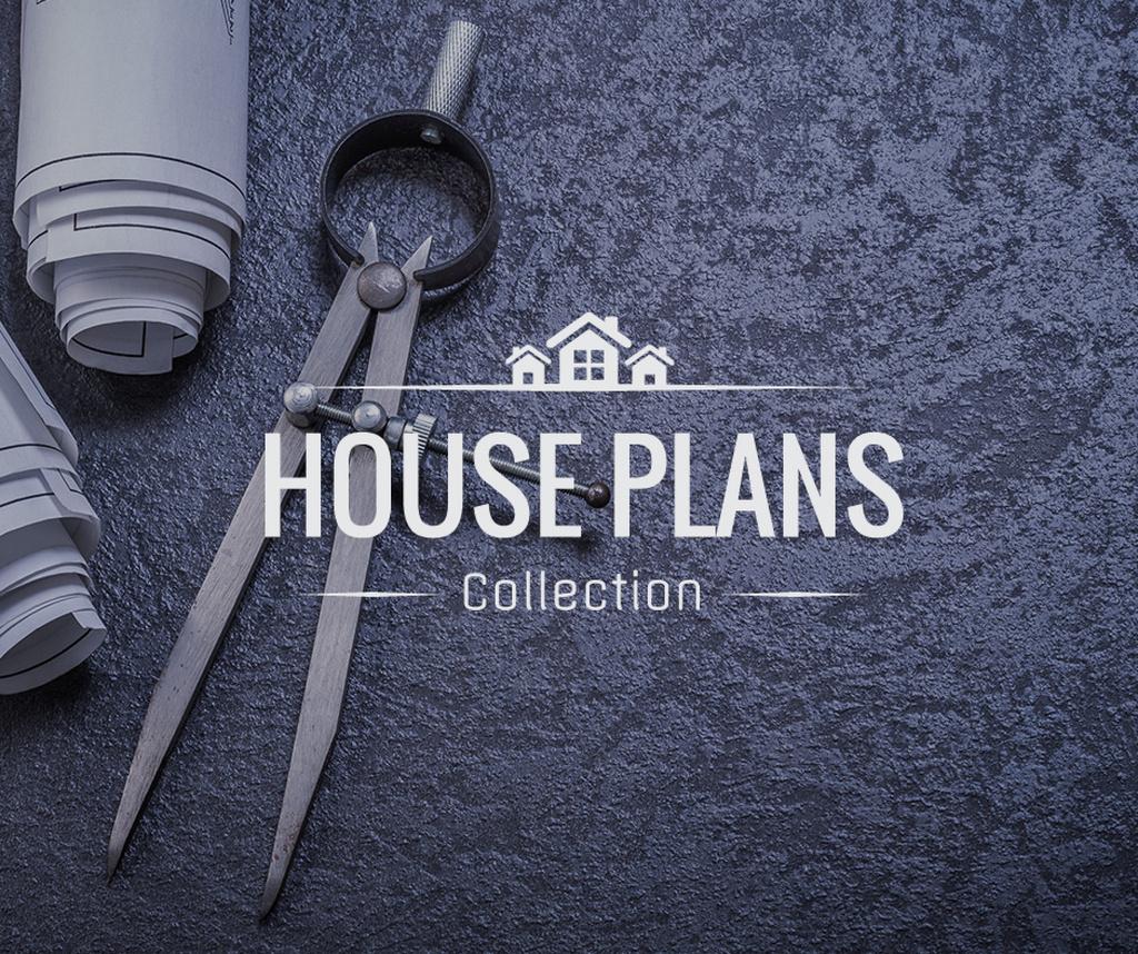 House Plans blueprints on table — Create a Design