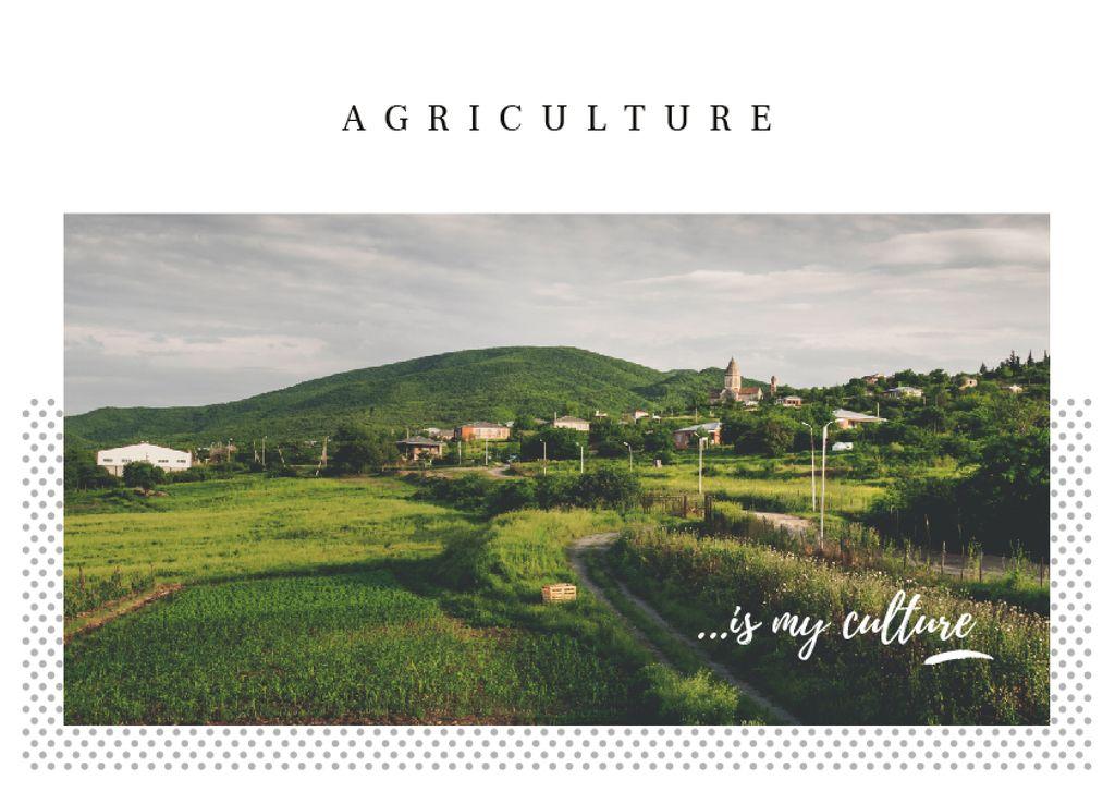 Small village in country landscape — Создать дизайн