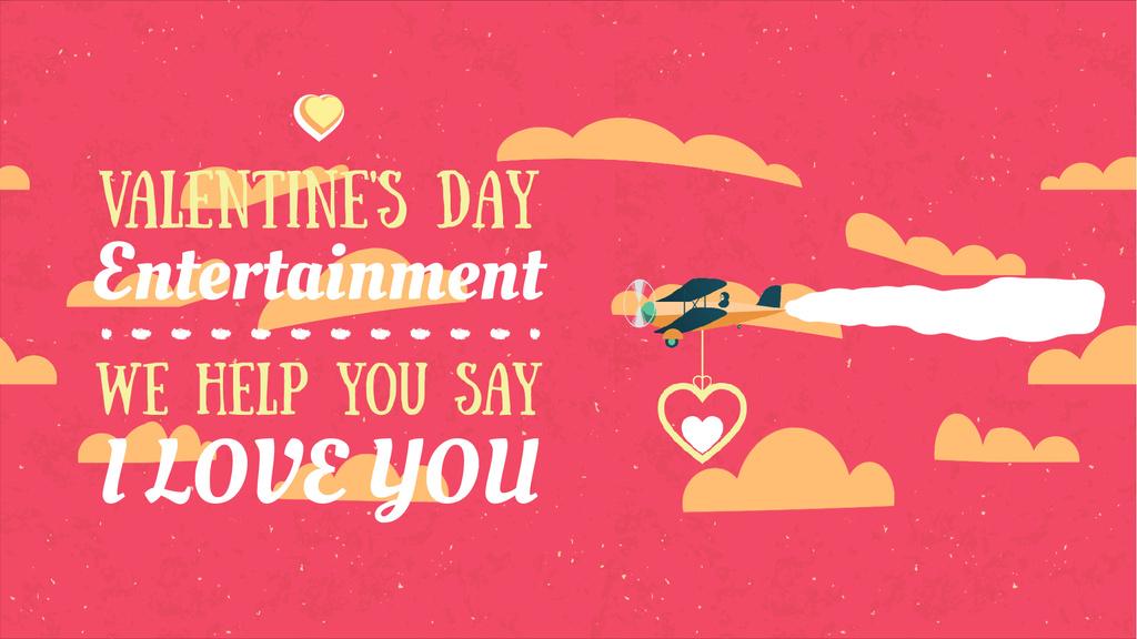 Valentine's Day Greeting Plane Carrying Heart | Full Hd Video Template — Maak een ontwerp