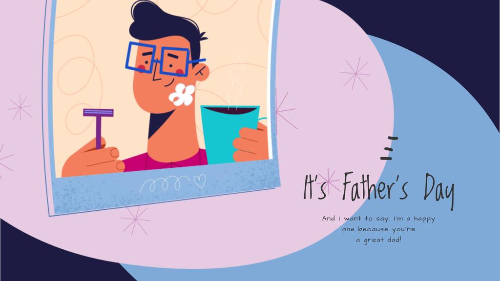 Dad with kid shaving — ein Design erstellen
