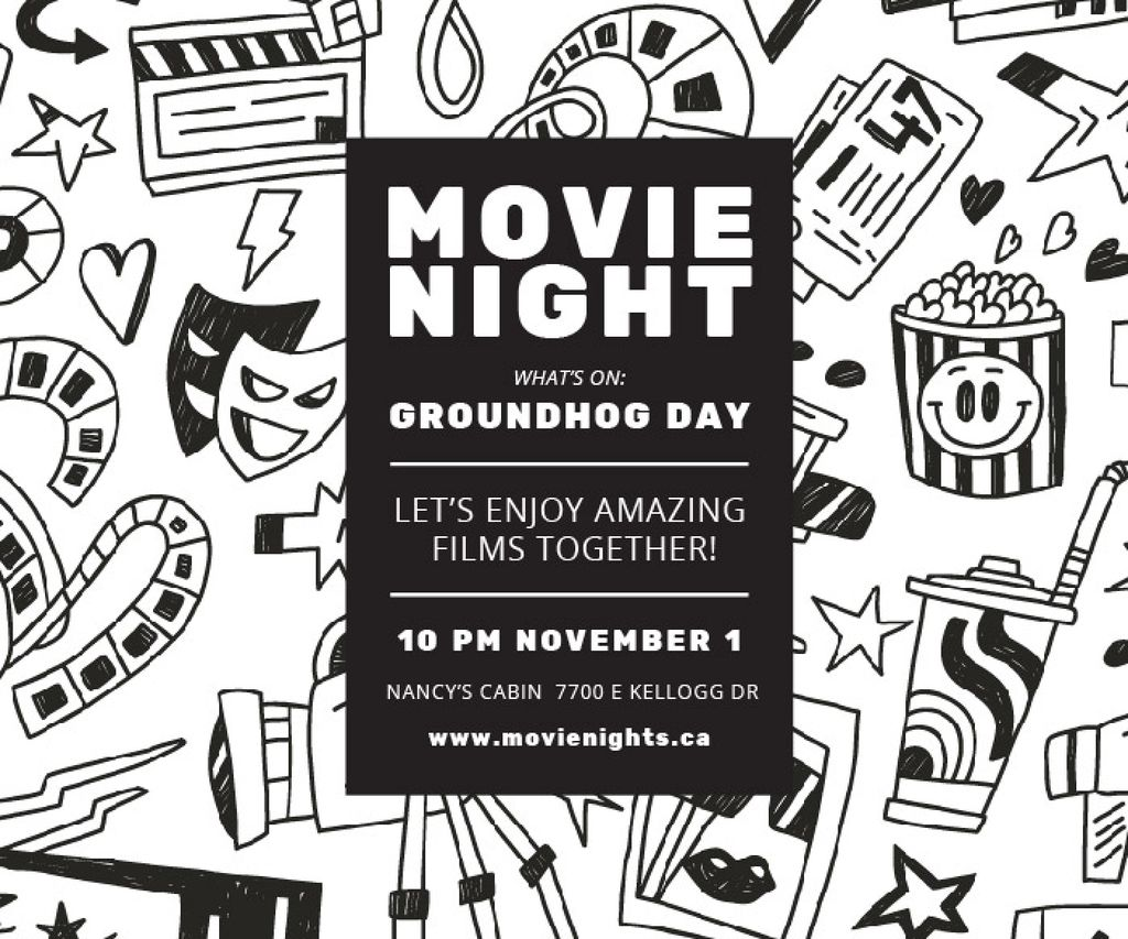 Movie night event — Create a Design