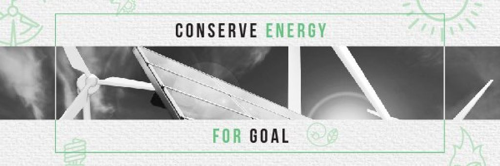 Concept of Conserve energy for goal — Створити дизайн