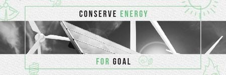 Concept of Conserve energy for goal Email header – шаблон для дизайна