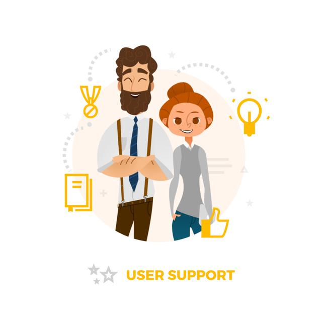 Modèle de visuel Successful business team - Animated Post