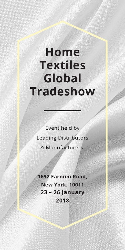 Home Textiles event announcement White Silk — Crea un design