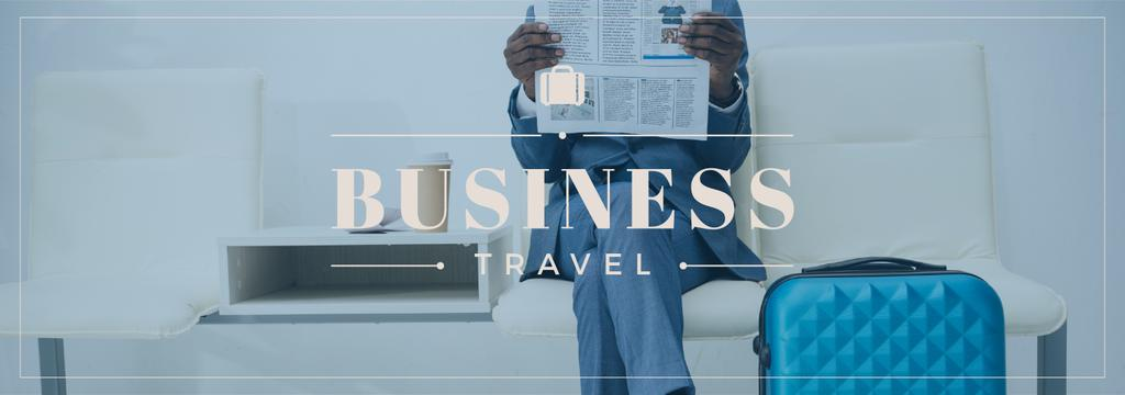 Businessman with Travelling Suitcase — Create a Design