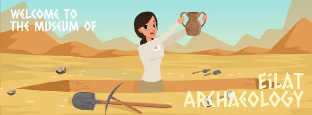 Plantilla de diseño de Archaeologist discovering ancient vase Facebook Video cover