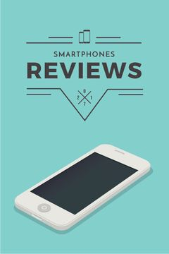 Smartphones reviews ad in blue