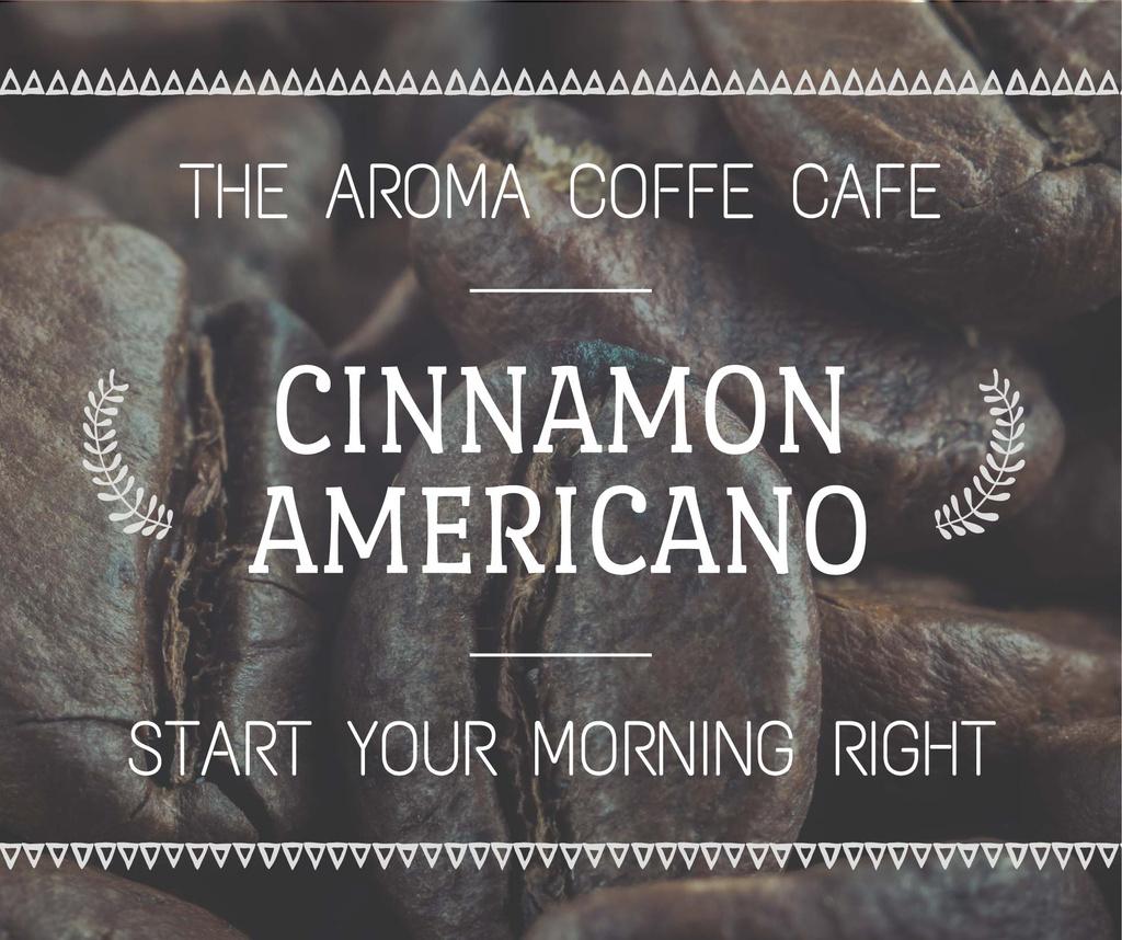 Template di design Coffee Shop Invitation Roasted Beans Facebook