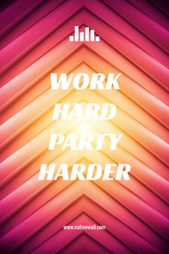 Hard Work Quote on Geometric Bright Background | Tumblr Graphics Template
