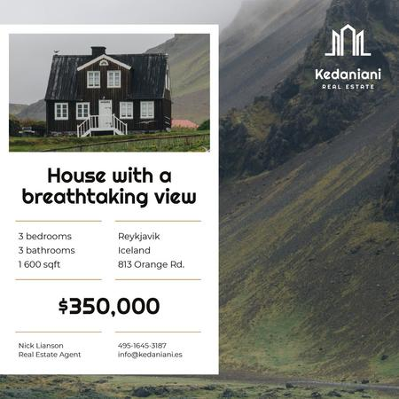 Modèle de visuel Real Estate Ad Beautiful House in Country Landscape - Instagram