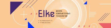 Plantilla de diseño de Computer Technologies Courses Promotion with Lines and Circles VK Community Cover