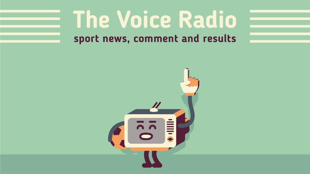 Sporting Event Translation Radio with Soccer Ball — Créer un visuel