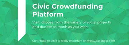 Ontwerpsjabloon van Tumblr van Crowdfunding Platform ad on Stone pattern