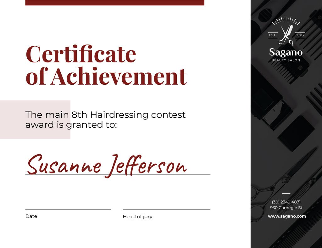 Hairdressing Contest Achievement in black — Створити дизайн