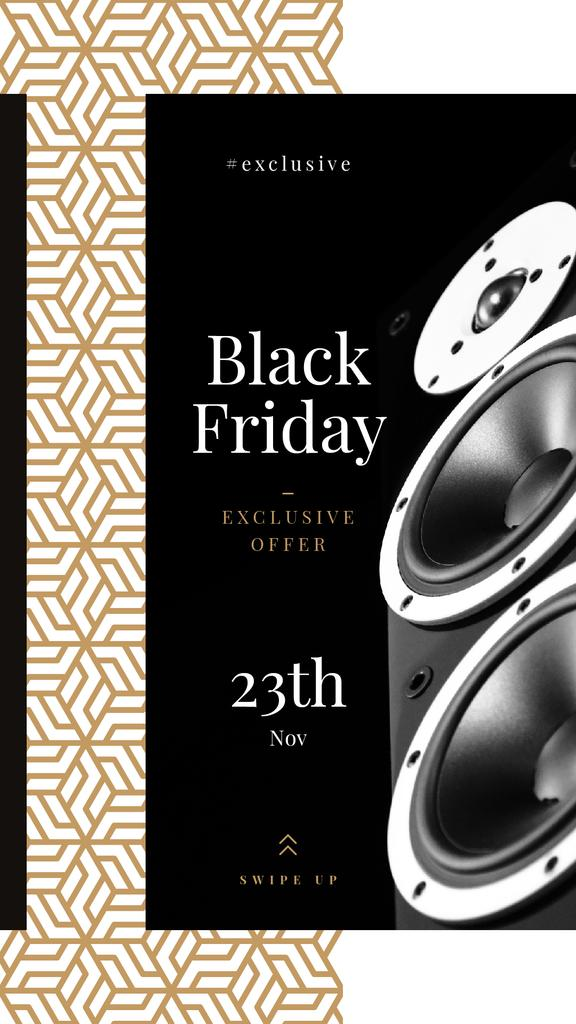 Black Friday Sale Large Speakers — Maak een ontwerp