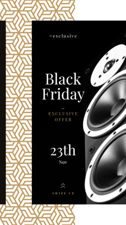 Black Friday Sale Large Speakers Instagram Story Modelo de Design