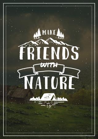 Ontwerpsjabloon van Poster van Make friends with Nature