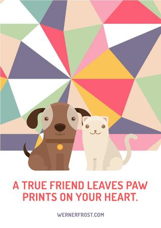 Plantilla de diseño de Citation about a true friend Poster