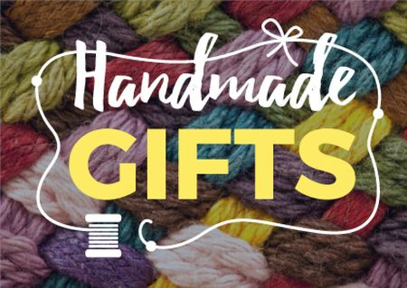 Modèle de visuel Handmade gifts Offer with Colorful threads - Card