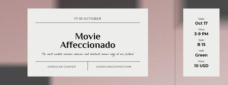 Plantilla de diseño de Movie Festival Announcement Ticket