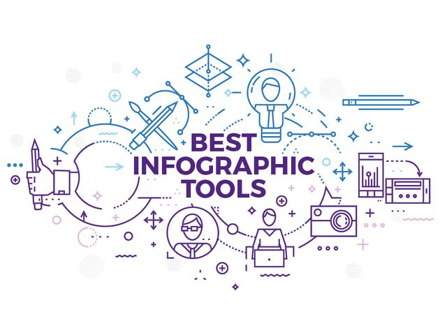 Infographic tools with Tech icons Presentation Design Template