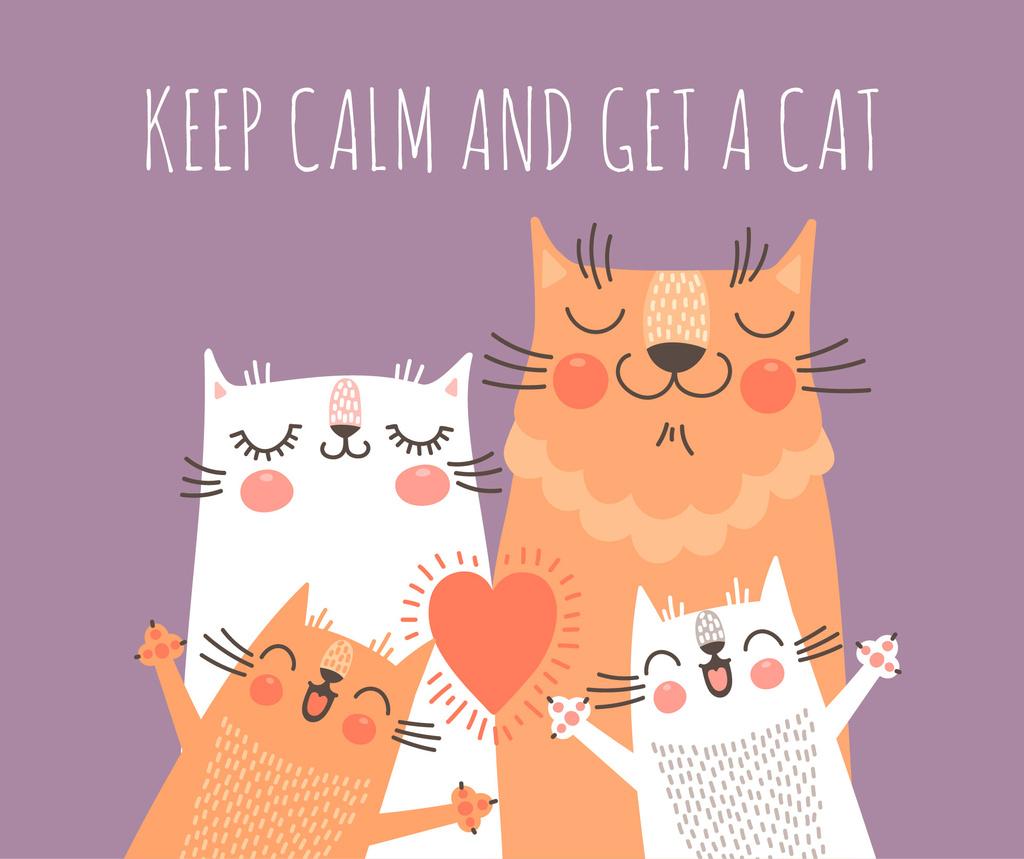 Adoption inspiration Funny Cat family — Modelo de projeto