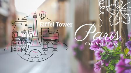 Tour Invitation with Paris Famous Travelling Spots Full HD video Design Template