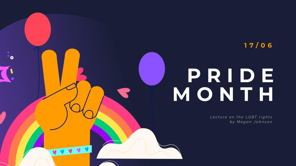 Pride Month Hand Gesturing over Rainbow — Створити дизайн