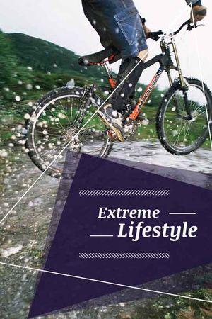 Designvorlage extreme lifestyle poster für Tumblr