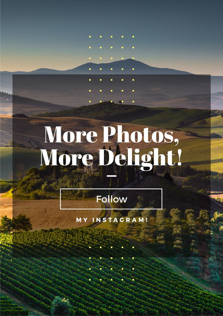 more photos, more delight text for instagram blog — Create a Design
