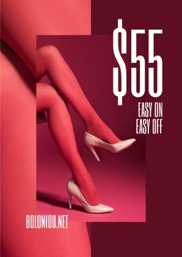 Fashion Sale with female legs in Pink tights