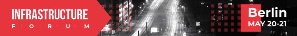 City Infrastructure Night Traffic Lights | Leaderboard Template — Создать дизайн