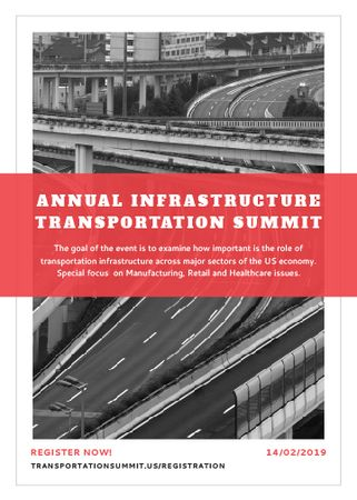 Ontwerpsjabloon van Flayer van Annual infrastructure transportation summit