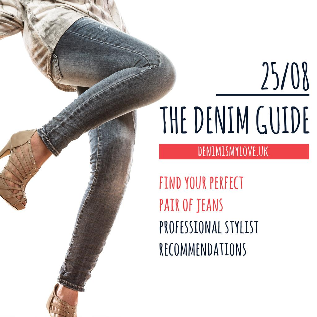 The denim guide website — Create a Design