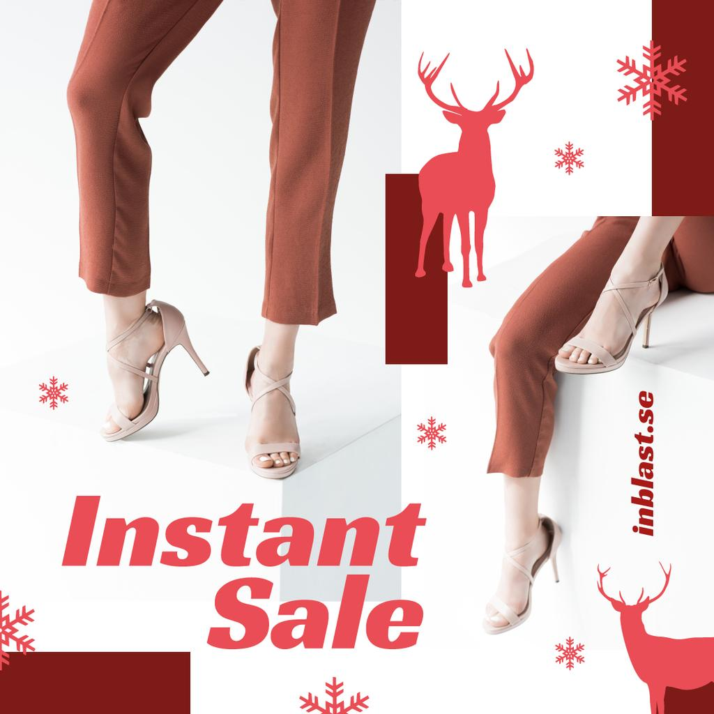 Christmas Offer Woman in Heeled Shoes — Create a Design