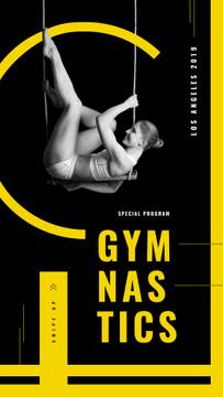 Girl gymnast training