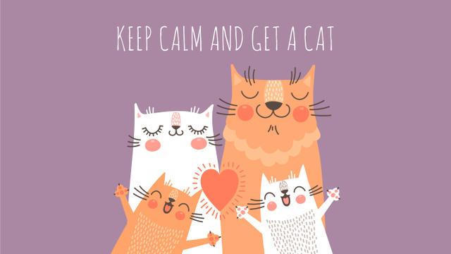 Modèle de visuel Cute Cat Family - Youtube