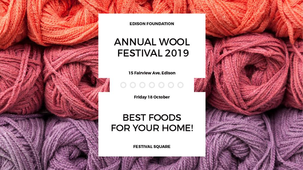 Annual wool festival 2019 — Crear un diseño