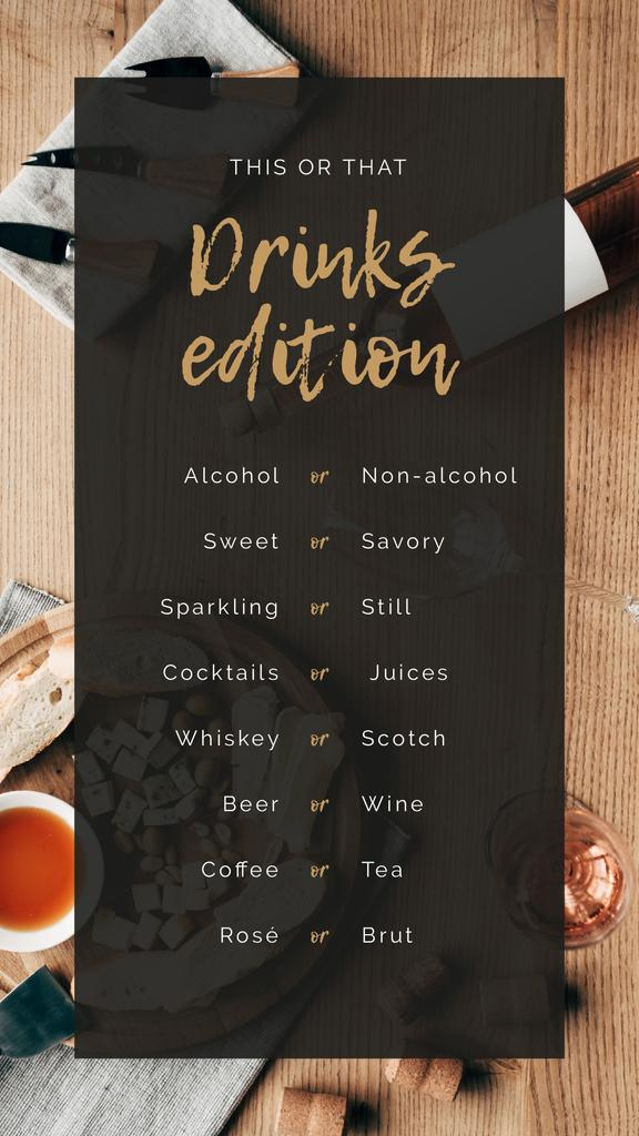 Drinks choice for this or that Game —デザインを作成する