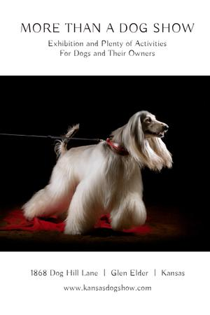 Dog Show Announcement Pinterest Modelo de Design