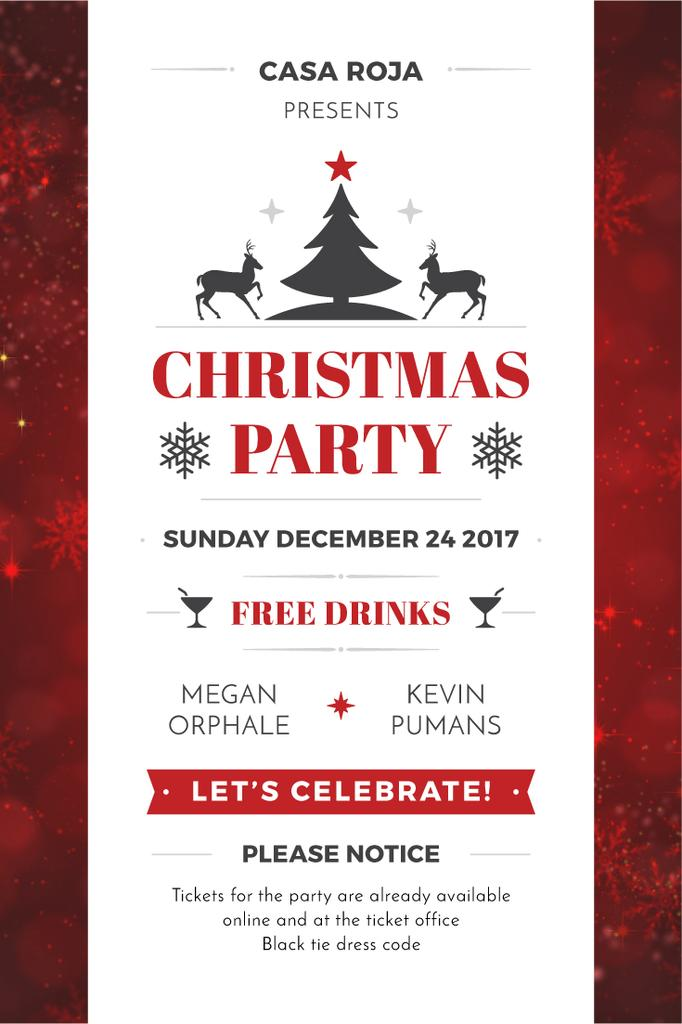 Christmas party card — Design Template