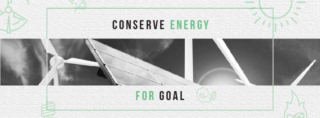 Green Energy Wind Turbines and Solar Panels — Створити дизайн