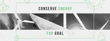 Green Energy Wind Turbines and Solar Panels | Facebook Cover Template