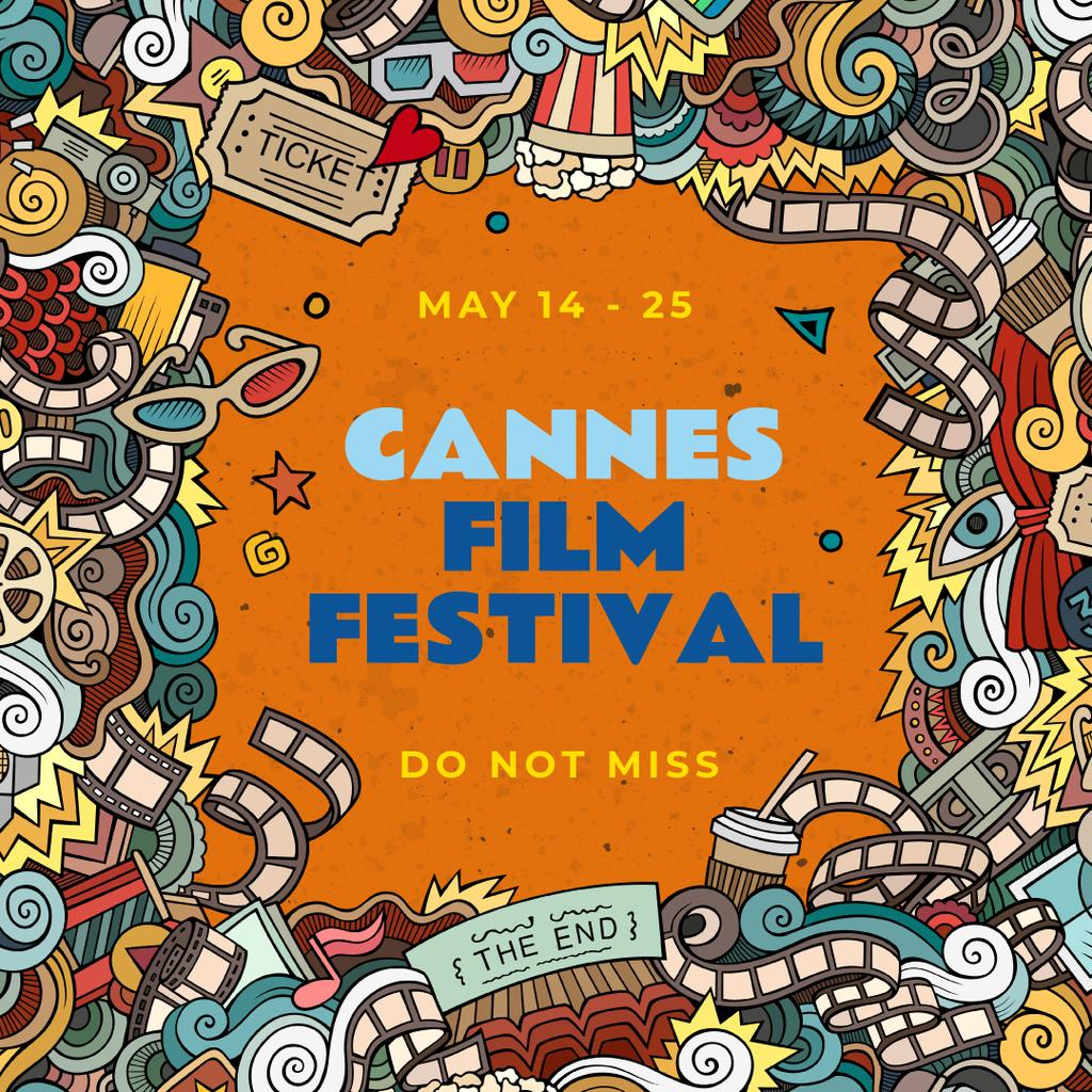 Cannes Film Festival Announcement with Movie attributes — Створити дизайн