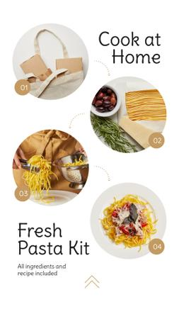 Plantilla de diseño de Pasta Recipe for Homecooking Instagram Story