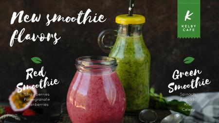 Modèle de visuel Healthy nutrition offer with Smoothie bottles - Full HD video