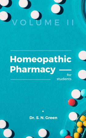 Pharmacy Pills on Blue Surface Book Cover Modelo de Design